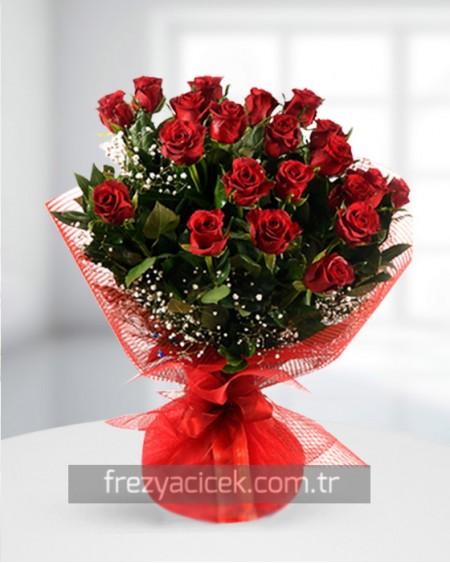 Aşk Buketi 21 Kırmızı Gül